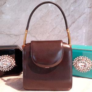 RARE! Judith Leiber Collector Handbag Coco Leather